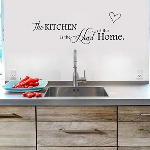 Yzybz Die Küche Ist Das Herzstück Des Hauses Zitate Und Sprüche Wandtattoo Entfernbare Wandaufkleber Diy (Diy Herzstück Halloween)