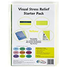 Crossbow Education Visual Stress Relief Starter Kit - Yellow