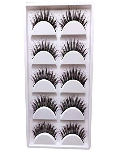 Falsche Wimpern, MMLC 1 Box Luxus 3D Falsche Wimpern Flauschigen Streifen Wimpern Lange Natürliche Partei Wimpern Verlängerung Einzelwimpern (Lila)