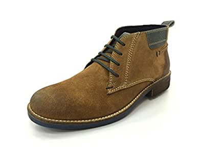 LEE COOPER MENS TAN SUEDE LEATHER BOOTS -UK6