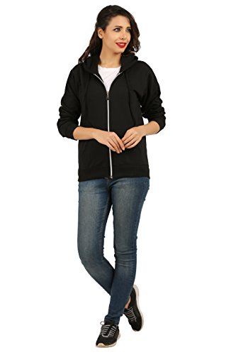 Fanideaz-Womens-Cotton-Full-Sleeve-Plain-Hoodies-For-Women-with-Zip-Zipper-Sweatshirt