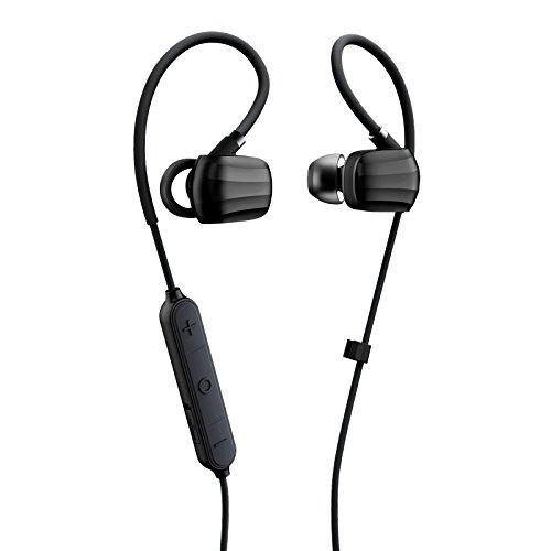 GGMM W710 Cuffie Bluetooth 4.1 Stereo, Auricolari con Microfono senza Fili Sport, Cuffies sportivo con Filo della Memoria, APT-X Technology, CVC 6.0 Riduzione del Rumore, IPX4 Impermeabile, Auricolare Esercizio Voce Chiara per Apple, iPhone 6 6s più 6, iPhone OS e Android, Windows smartphone / Tablet (Nero)