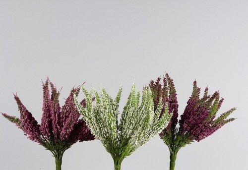 Erika-Busch Heidekraut Kunstblume creme 27,5 cm Ø 20 cm