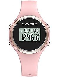 Relojes Pulsera Multifunción Calendario Alarma Rojoondo Digital Relojes Mujeres Chicas Correa de Silicona Deportivo,…