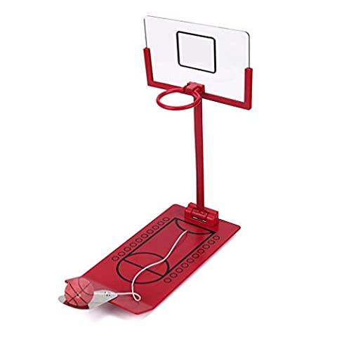 Ularma Décompression Portable Desktop Pliant Mini Table Drôle de Jeu de Basket-ball Jouet Rouge