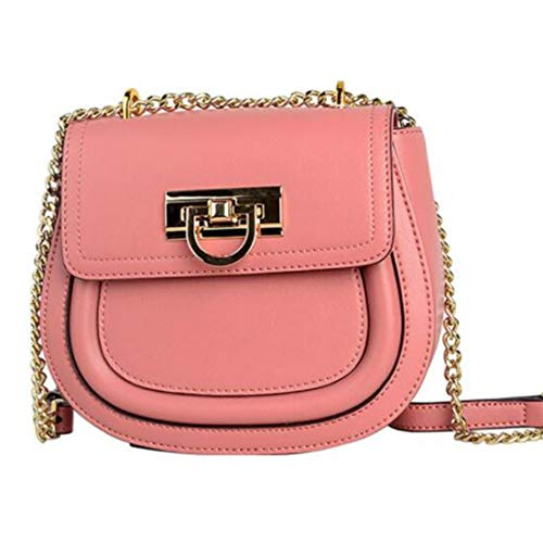 Preisvergleich Produktbild Uzanesx Ein-Schulter-Tasche modische Schulter zurück schrägen Cross-Bag Damen Ledertasche in der Hand (Color : Pink)