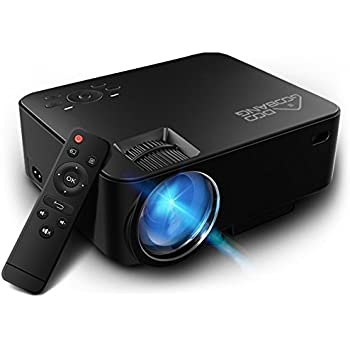 Mini Proiettore, GooBang Doo T20 LED 1080P Full HD 1800 Lumens Videoproiettore Portatile Proiettore Home Cinema 800*480 Risoluzione per PC Laptop PS4 Smartphone Xbox and Android TV Box