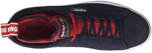 Puma Unisex-Erwachsene RBR Suede Sneaker Schwarz (Night Sky-Freesia-Chinese Red)
