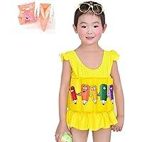 Hibote Child Free Learning Einstellbare Float Anzug Sonnenschutz UV-Badeanzug für Kinder mit Armbinden zu schwimmen