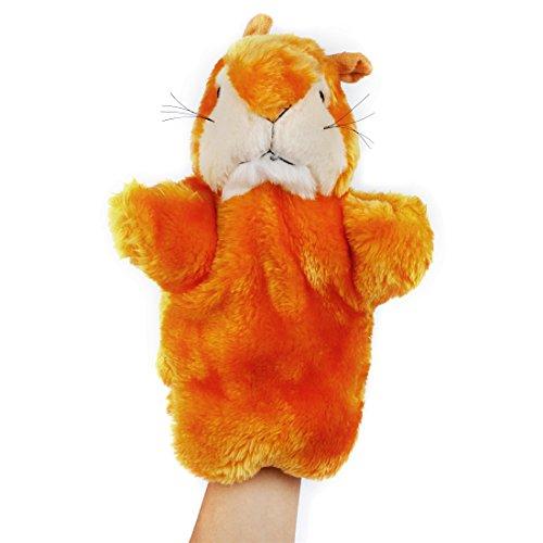 Andux Zone Tierhandpuppen aus Plüsch,Handpuppe Handspielpuppe Plüsch Puppe Mini Tier Cartoon Tiermotive Eichhörnchen (SO-03) -