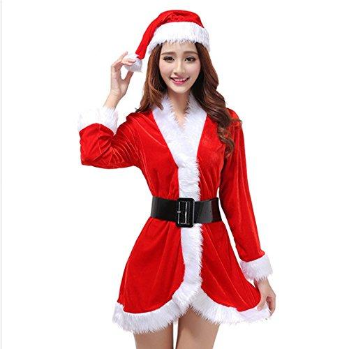 nta-Kostüm, für Weihnachten, rot, rot, uk 12-14 (Damen Santa Fancy Dress)