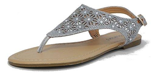 Boulevard - Zapatos Con Correa De Tobillo Mujer Plata (plata)