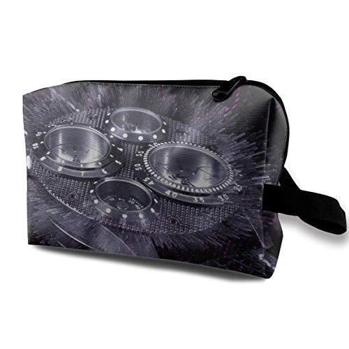 Reise-Kosmetiktaschen-Armbanduhr-Reise-tragbarer Make-upbeutel-Reißverschluss-Geldbörsen-Hangbag