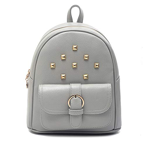 Bags womenRivet Umhängetasche Lychee Reiserucksack mit großer Kapazität, College-Girl-Tasche, grau
