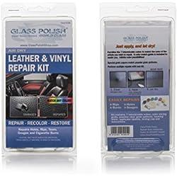 Glass Polish 91001 - Kit de accesorios para la reparación de cuero y vinilo