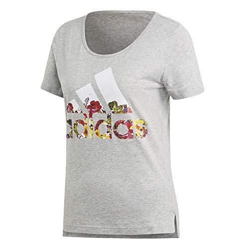 adidas Badge of Sport Flower Damen T-Shirt, Größen Textil:XXL - Adidas Court Sport Kurz