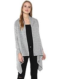 Cayman Women Grey Solid Woollen Shrug