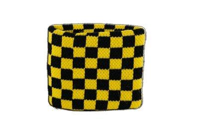 Digni® Poignet éponge avec drapeau Damier Noir-Jaune