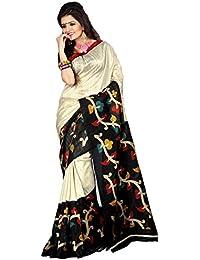 Samskruti Sarees Women's Tassar Silk Saree (SSPEE-5531_Beige)