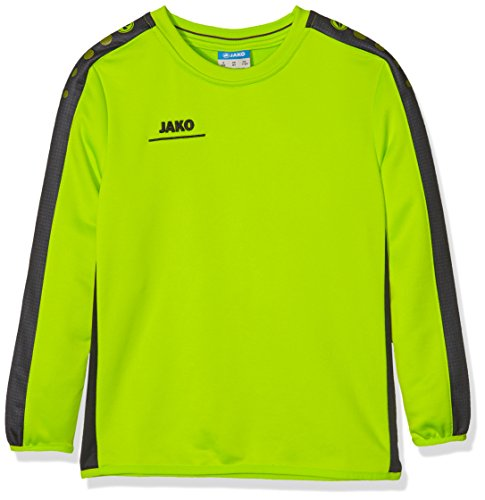 JAKO Kinder Sweatshirt Sweat Striker, Lime/anthrazit, 152