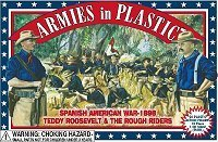 Spanish American War 1898 Teddy Roosevelt/Rough Riders (20) 1/32 Armies in Plastic by Armies in Plastic