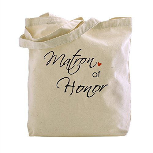 (ElegantPark Maid of Honor Natur Segeltuch 100% Baumwolltasche Beutel mittlere Hochzeits Bevorzugungs Geschenk Beutel Handtasche)