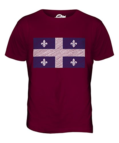 CandyMix Québec Kritzelte Flagge Herren T Shirt Burgunderrot