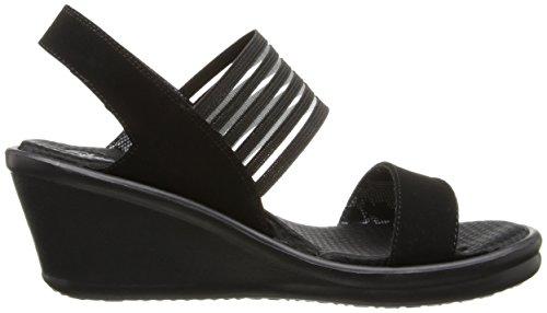 Skechers Rumbers-sci Fi, Sandali con Cinturino Alla Caviglia Donna Nero (Black)