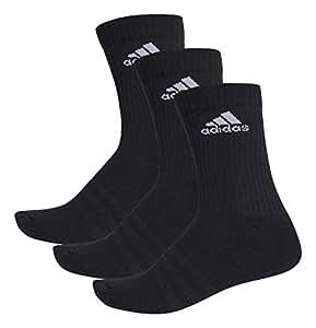 Adidas 3-Stripes Performance Crew Socks (pair Of 3), Black (Black/Black/Black), Size 19-22