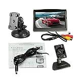 5,0-Zoll-Digital-TFT-LCD-Bildschirm HD-Auto Rückansicht Monitor Universal-Nachtsicht-Set mit Halterung - schwarz