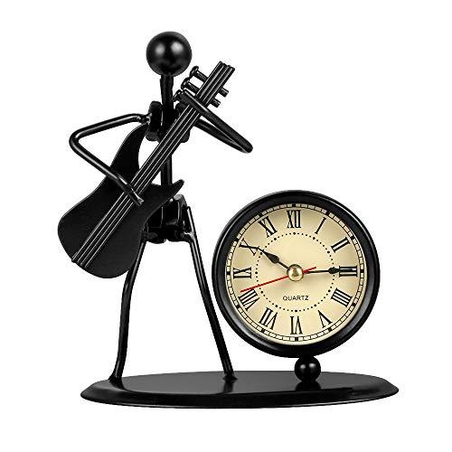 Gitarre Bass Musik Eisen Mann Elektronische Dekoration Uhr Möbel Büro Regal Artikel Dekoration Zubehör ()