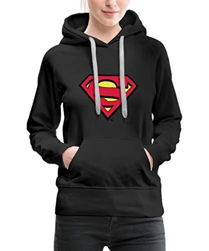 s Superman Logo Original Frauen Premium Hoodie, L (40), Schwarz ()