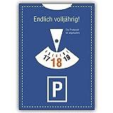 1 Geburtstagskarte: Geburtstagskarte im Parkuhr Look 18 Endlich volljährig! Die Probezeit.