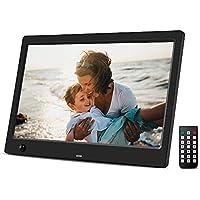 Beschoi 10 inch Digital Photo Frame HD LED Picture Videos Frame with Motion Sensor, MP3/Calendar/Clock/E-book