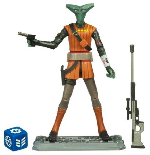 Star Wars The Clone Wars Action Figur 28523 CW47 - El-Les mit Blastern (inkl. Galactic Battle Game Duellkarte) (Action-figur-clone Wars)