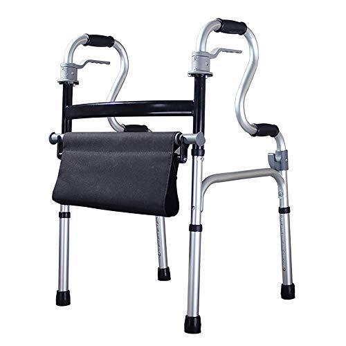 HSRG Faltbare Walker mit Seat, leichtes medizinisches Walking Frame mit Comfort Grip-Ideal für Ältere & Handicap (Medizinische Frames)