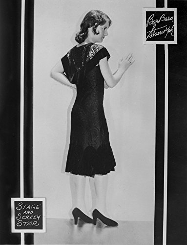 The Poster Corp Barbara Stanwyck Posed Backside in Black Dress and Heels Photo Print (60,96 x 76,20 cm) Barbara Heels