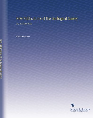 New Publications of the Geological Survey: No. 1074-1085 1998