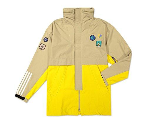 adidas Herren Jacke HU H 3L Beige/Hemp/EQT Yellow CE9491, (Beige/Hemp/EQT Yellow), Small