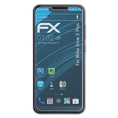 atFolix Schutzfolie kompatibel mit Wiko View 2 Plus Folie, ultraklare FX Bildschirmschutzfolie (3X)