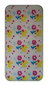 Serebroarts Back Cover for Samsung Galaxy J5 The Yellow & Pink Color Flowers with Stone Theme
