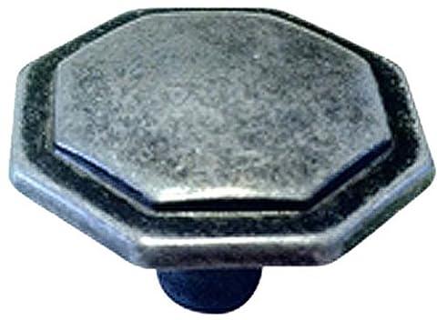 Knobware R06014K 1–1/10,2cm hexagonale Bouton, Antique Pewter, 1-1/4