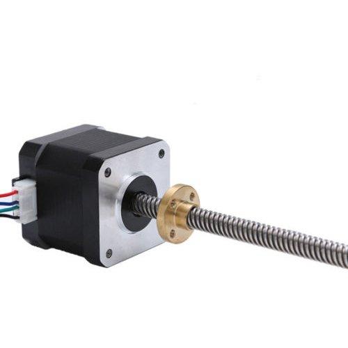 JoyNano Nema 17 Motor paso a paso integrado 310 mm T8 Tornillo Bipolar 1.7A 40N.cm Torque de retención Cuerpo de 40 mm para impresora 3D o máquina CNC