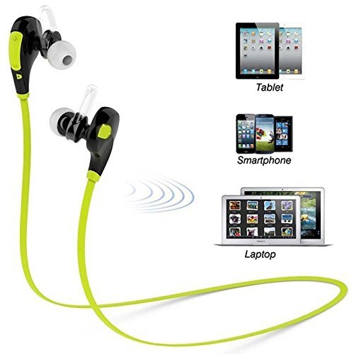 CASVO Compatible Micromax GC222 Wireless Sports Headphones with Mic || Noise Cancellation || Sweatproof Earbuds, Best for Running,Gym || Stereo Sound Quality-Green  available at amazon for Rs.999