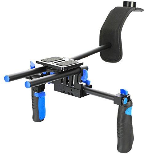 CAMSMART®Pro DSLR RL Hand-und Schulter-Videostativ für DSLR-Kameras und Camcorder (RL-02)