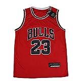 Ati nice Chicago Bulls # 23 Michael Jordan Jerseys de Baloncesto para Hombres Uniforme de Baloncesto Retro Tela Transpirable Fresca Chaleco sin Mangas clásico,XL:180cm~185cm
