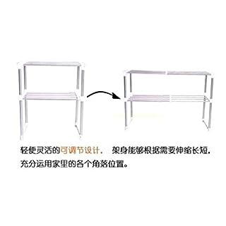 Aojia Mikrowelle Rack Küche Regalen 8204–2Weiß