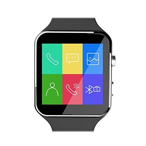 Apple iPhone X 256 gb compatible curved screen bluetooth wireless smart watch / Wrist Watch with Sim Card Support for High Quality Calling | Touch Screen | Facebook and WhatsApp | Multilanguage | Activity Trackers | Fitness Band Features | Smartwatch Phone with Camera TF SIM Card Slot | Video Recording | Phone Book | Compatible with All 2G 3G 4G Android Mobile Phones & IOS , For All Trending Models Like Samsung Vivo Sony Gionee Xiaomi Redmi MI Lenovo Motorola Oppo HTC Google Micromax Intex X6