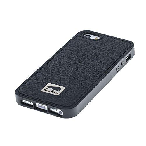 """Solo Pelle Iphone SE / 5 / 5S Case Lederhülle Ledertasche Backcover """" Flex """" aus echtem Leder (Floater Taupe) inkl. hochwertiger Geschenkverpackung Floater Schwarz"""