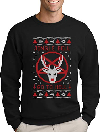 1c3d56a1 Green Turtle T-Shirts Funny Ugly Christmas Sweater - Jingle Bell Go to Hell  Sweatshirt